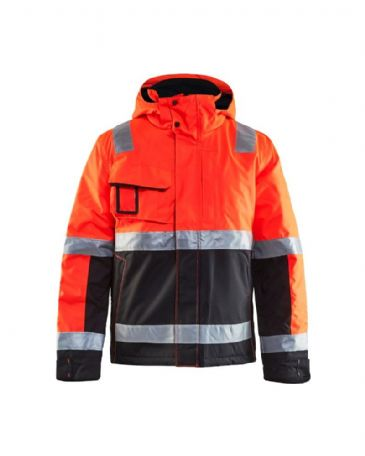 Blaklader 4870 Winter Jacket High Vis (Red/Black)